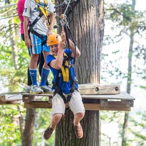 Timber Challenge High Ropes