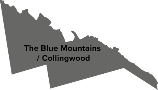 The Blue Mountains / Collingwood map
