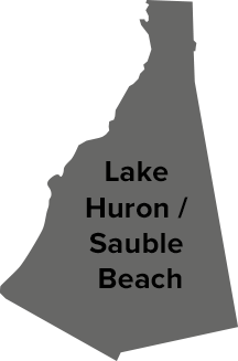 Lake Huron / Sauble Beach map